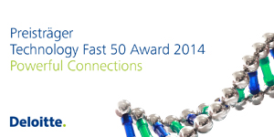 Technology Fast 50 Award 2014 banner